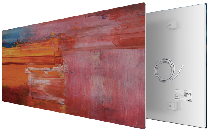 Infrared heaters for wall mounting with picture motives